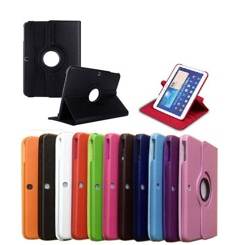 360 Rotating tablet Leather Case For Samsung Galaxy Tab 3 10.1