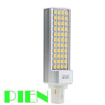 G24 PL led bulb bombillas E27 5050 9W SMD 44 LED ampolletas 110V 220V lampadas de led casa Free Shipping 5pcs/lot