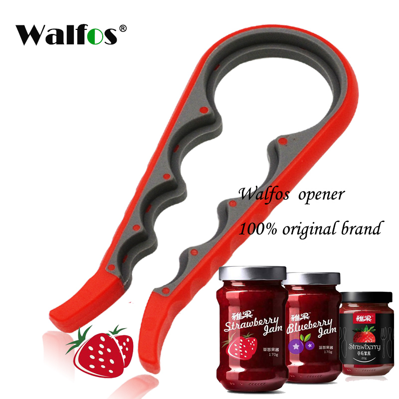 WALFOS High Quality Screw Cap Jar Bottle Wrench 4 in 1 Creative Multifunction Gourd-Shaped Can Opener Kitchen Tool