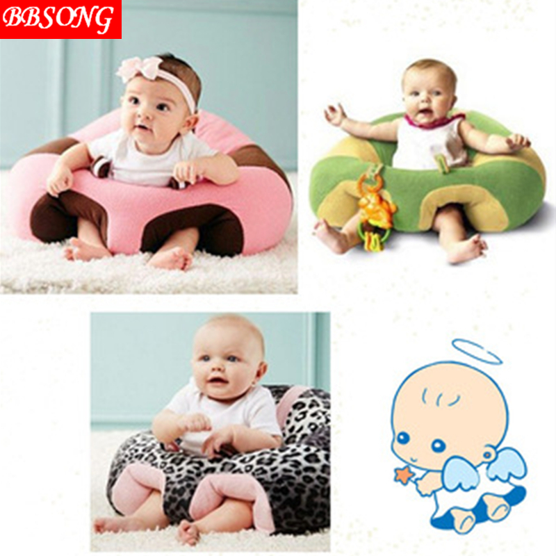 BBSONG Baby Chair Keep Sitting Posture Baby Cute Support Seat Plush Soft Sofa Infant Learning To Sit Portable For 0-3 Years Old