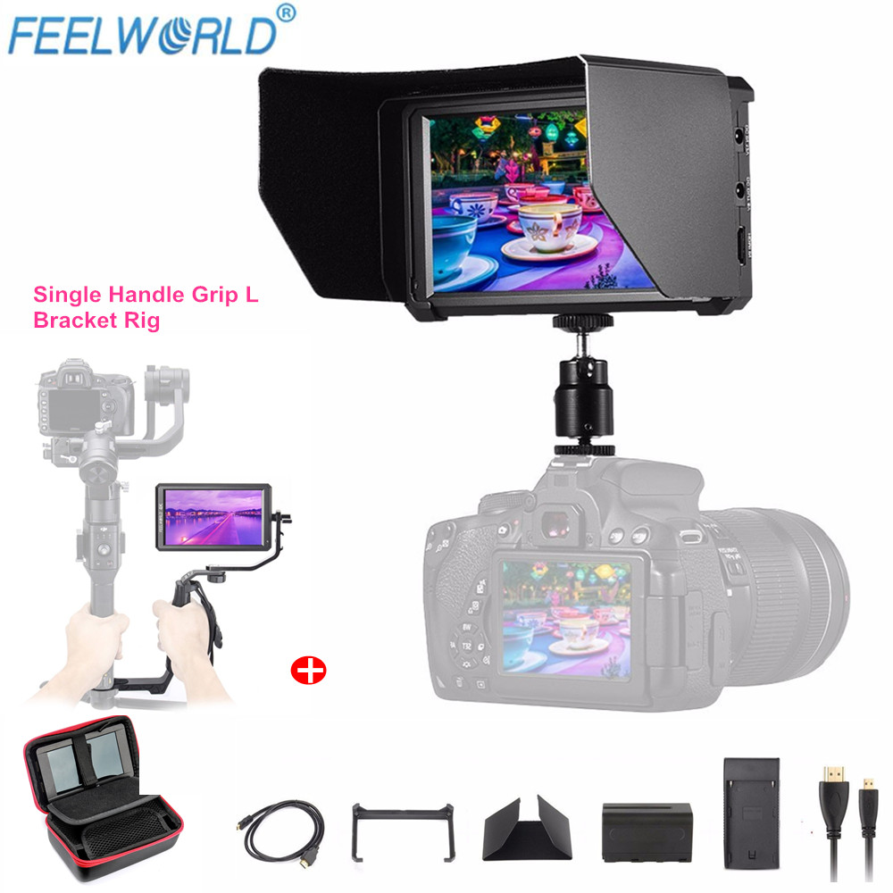 Feelworld F6 5 7 IPS 4K HDMI Monitor for DSLR or Mirrorless Camera With Battery Single