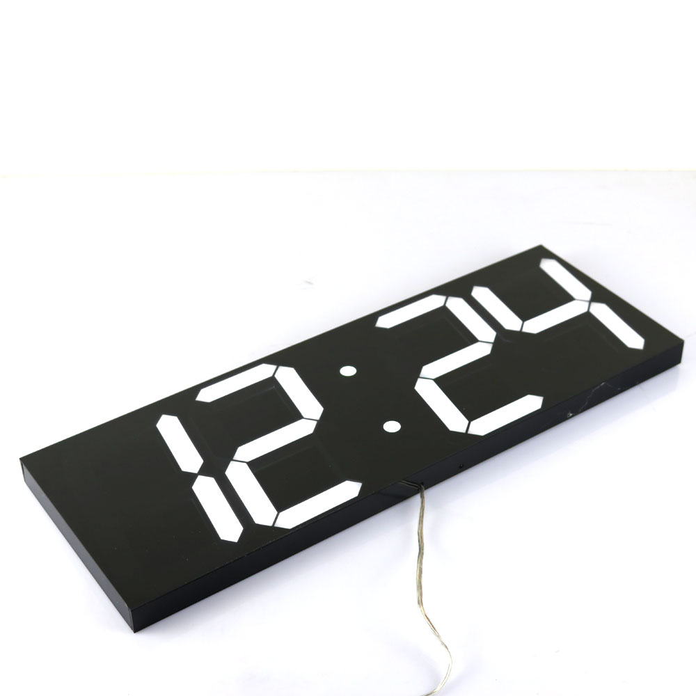 buy large digital wall clock modern. Black Bedroom Furniture Sets. Home Design Ideas