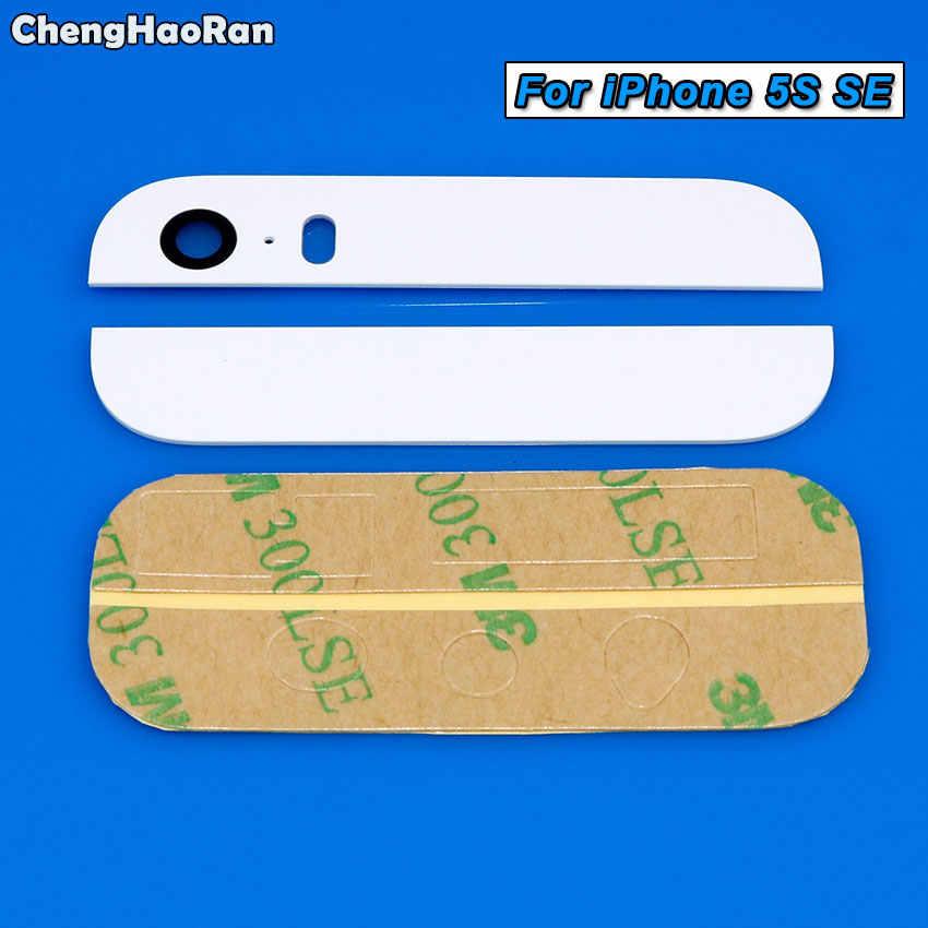 ChengHaoRan Voltar Câmera Traseira Lente de Vidro Para o iphone 8 7 6 6 s plus 5 5S SE X XR XS max Câmera Tampa Da Lente com Adesivo