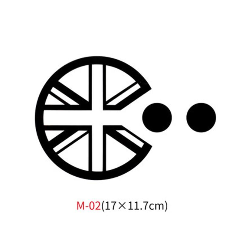 Различные автомобильные наклейки Union Jack для Mini Cooper One S JCW Countryman Clubman F55 F56 R55 R56 R60 F60 автомобильные аксессуары - Название цвета: M-02