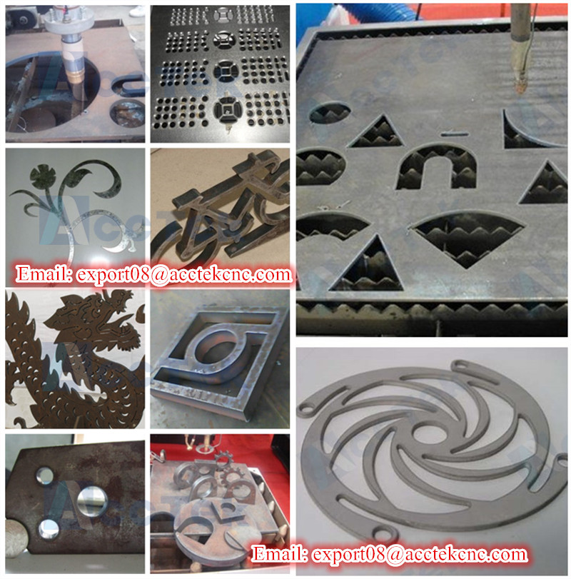 cnc plasma metal sample