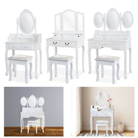 Dresser Make up Desk solid wood Dressers Dressing table dormitorio Tocador coiffeuse 1/3 Mirror 4/7 Drawers with Stool