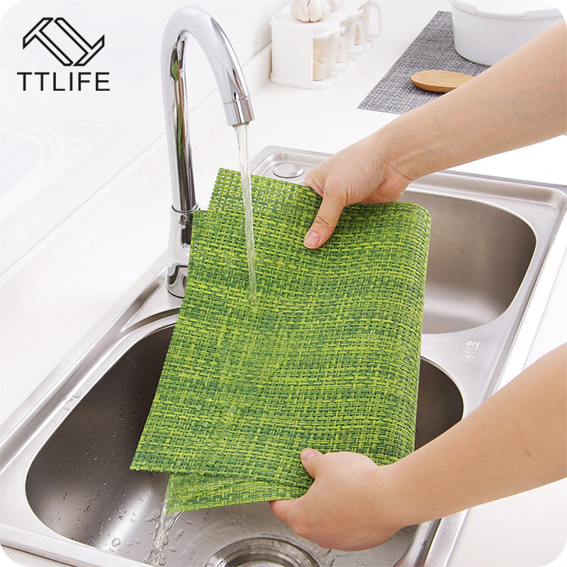 TTLIFE 1pcs Simple-Style Creative Waterproof Non-Slip Placemat Dinner Desk Mat Thick Hot-Insulated Mats Tableware Mat