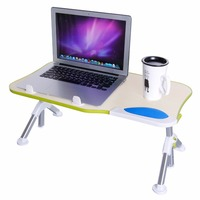 Lifewit Portable Mobile Laptop Standing Desk Notebook PC Folding Desk Height Adjustable Stand Table For Bed