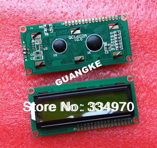Free shipping !!!! LCD 1602 (yellow-green screen) 5V 1602 LCD display with backlight 10PCS/LOT