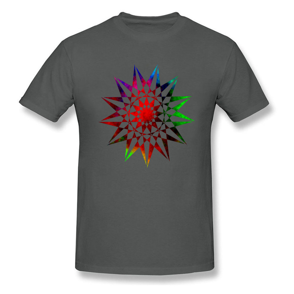 Men Stars T Shirt Colorful Geometric Abstract Vector Star T-Shirts For Male XXXL Young College Astronomy T Cotton - intl