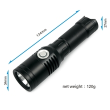 UniqueFire UF-XPL 1000 Lumens USB Rechargeable LED Flashlight Compact Emergency With Eagletac Rechargeable 18650 Battery