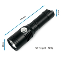 UniqueFire XPL 1000 Lumens USB Rechargeable LED Flashlight Compact Emergency 4 Modes: High /Middle/Low/Strobe