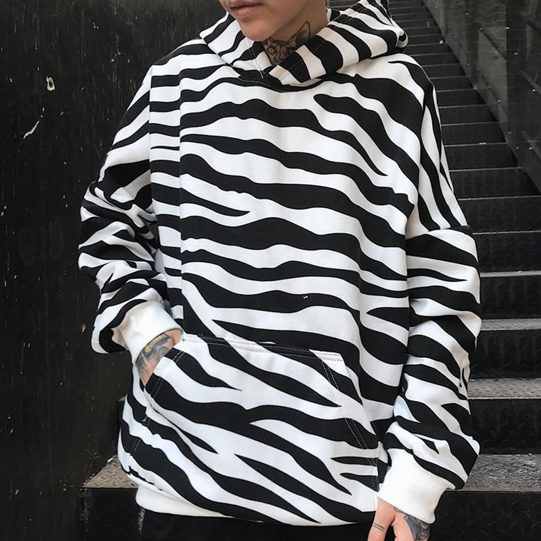 2019 New Spring Gagarich Autumn Winter Korean Hoodie Women Ins Coat Zebra Striped Top Jacket Long Sleeve Women Clothes Women's Clothing