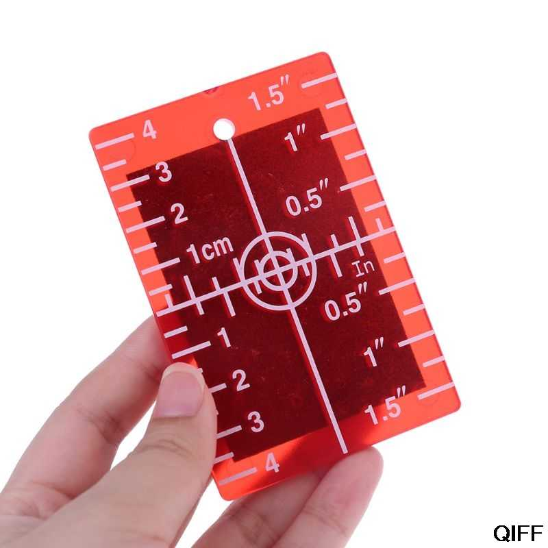 Drop Ship&Wholesale Laser Target Card Plate inch/cm for Green and Red Laser Level Target Plate July 3