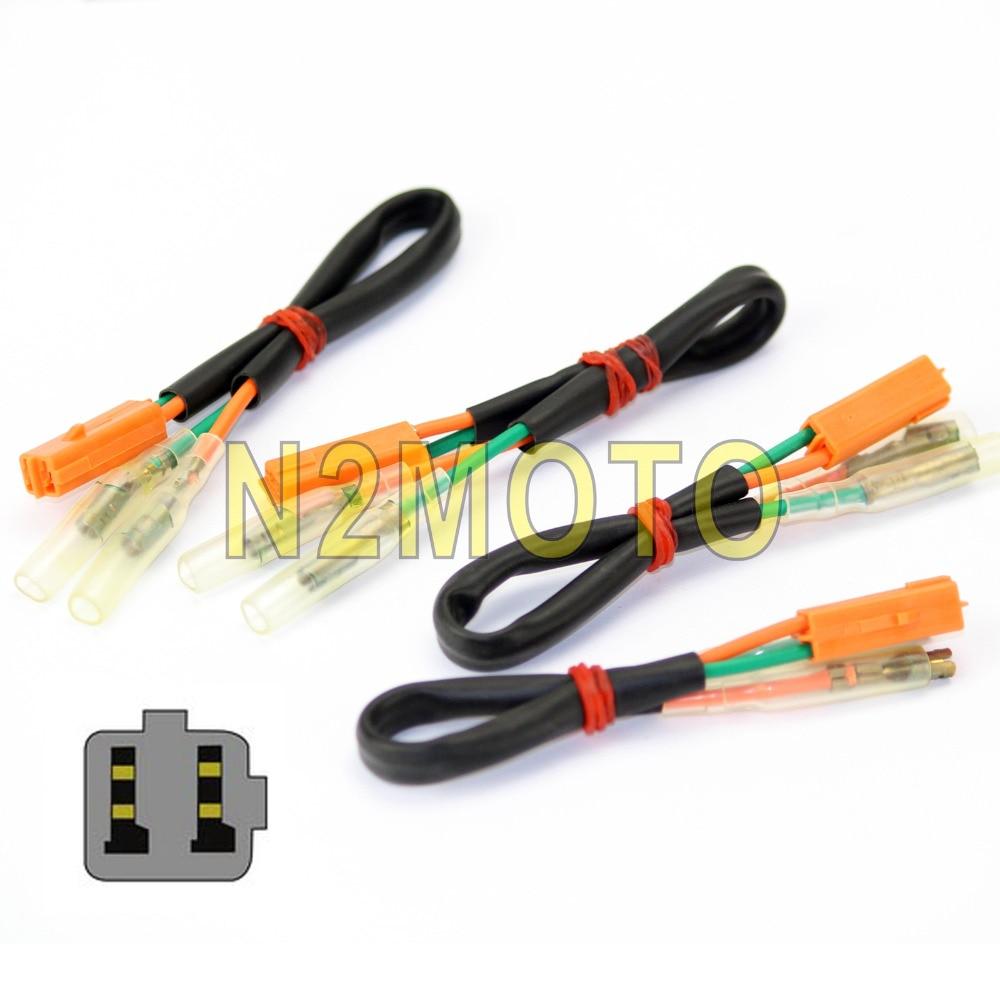 Motorcycle Turn Signal Wiring Harness Connectors Plugs For Kawasaki 06 Zx6r 4pcs Adapter Plug Wire Adaptor Z125 Z250 Z300 Z650 Z750