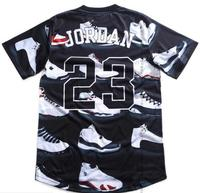 Popular Summer Pure American Special Cut T Shirt Men Women JORDAN 23 Classic Street Style Shoes