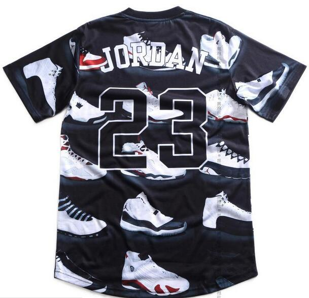 77c78eba4544 Popular Summer Pure American special cut t shirt men women JORDAN 23 classic  street style shoes print 3d t shirt hip hop