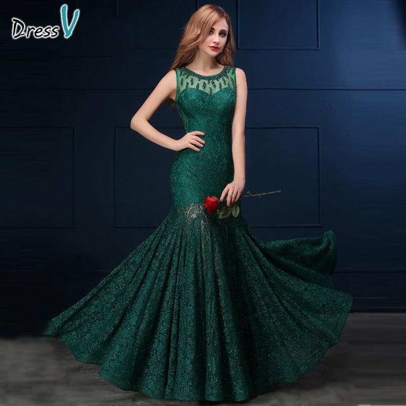 Online Get Cheap Dark Green Lace Mermaid Dress -Aliexpress.com ...