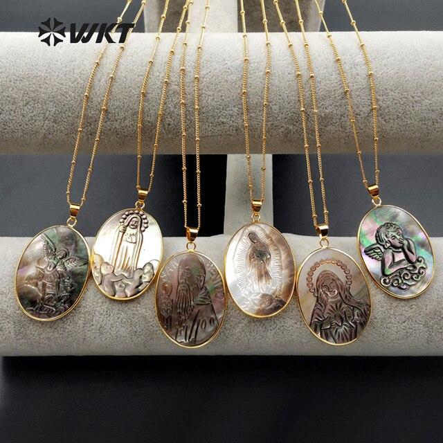 Женское Ожерелье, овальной формы, с различным символом удачи