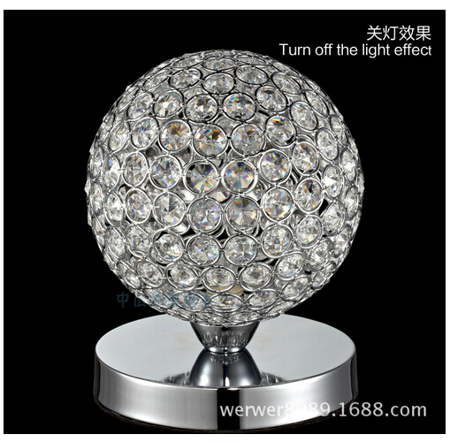 Aliexpress.com : Buy Hot Sale Luxurious Modern Fashion Adjustable Crystal  Ball Led E14 Table Lamp Living Room Bed Room Bedside Study Desk Light 1518  From ...