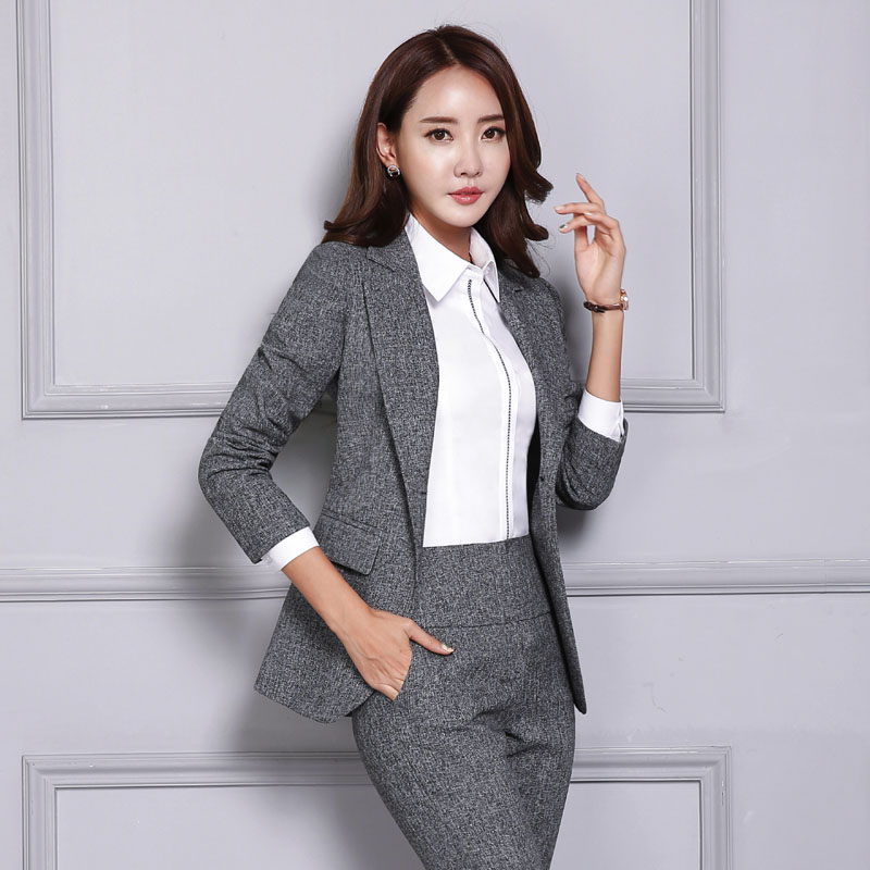 Plus Size 4XL Female Pantsuits Professional Jackets And Pants For ...