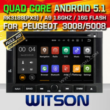 WITSON Android 5.1 Quad Core CAR DVD PLAYER for PEUGEOT 3008 5008 GPS RADIO+1024X600 HD SCREEN+DVR/WIFI/3G+DSP+RDS+16GB flash
