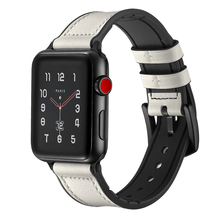White Color Watch Straps For Apple , VIOTOO Leather Silicone Rubber Watch-strap Bands
