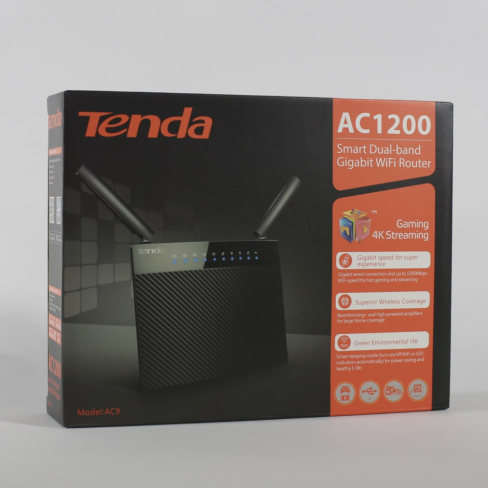Tenda AC9 Wireless Wifi Router Smarter Dual Band 1200M Gigabit ...