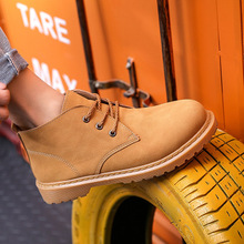 feiyituFaux Suede Leather Men Boots Spring Autumn And Winter Man Shoes Ankle Boot Men's Snow Shoe Work men's low to help Martin spring autum army combat boots leather men work safety shoe steel toe security shoes for men winter snow boot ankle suede