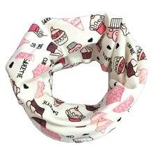Хлопковый детский шарф, зимние детские шарфы, Детские воротники для шеи, шарф с круглым вырезом для девочек, весенне-осенний Детский шарф для мальчиков, аксессуары