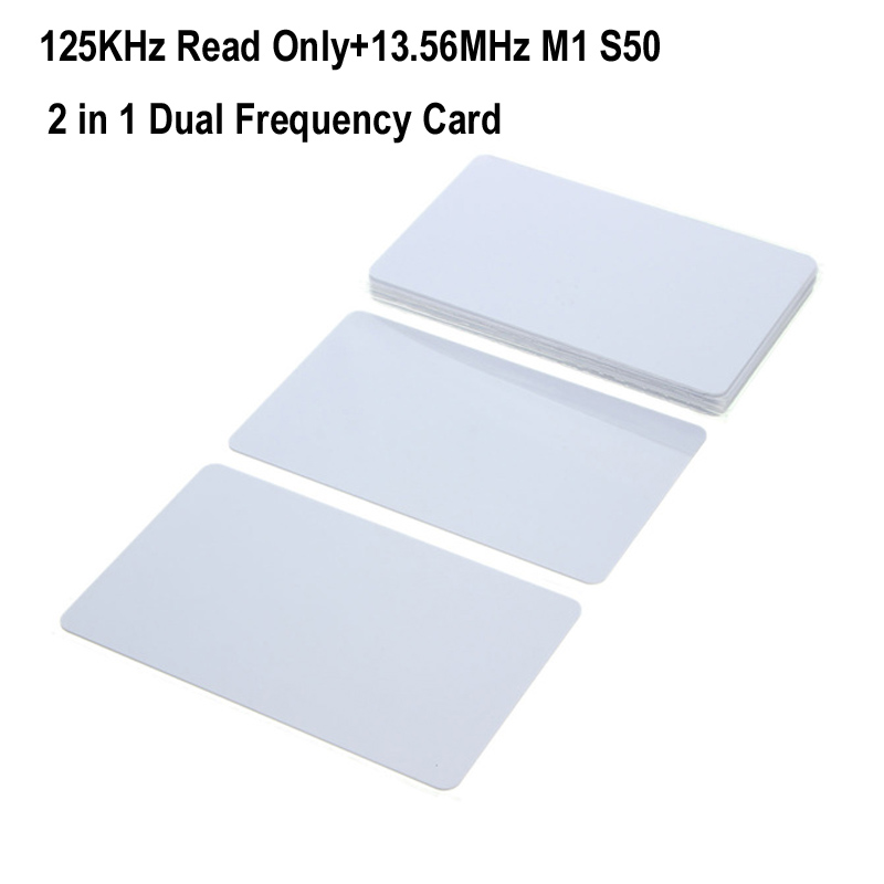 RFID Dual Frequency 125KHz EM4100 Read Only And 13.56Mhz M1 Classic S50 Blank Card