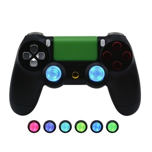 Image 2 - DIY Button Transparent analog thumb sticks thumb stick Led Light Fits for PlayStation4 PS4 Pro PS4 Slim With Flash Light Refit