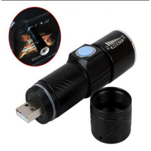 3 Mode Tactical Flash Light Torch Mini Zoom Rechargeable Powerful USB LED Flashlight AC Lanterna For Outdoor Travel(China)