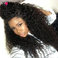 7A Glueless Full Lace Front Human Hair Wigs For Black Women 250% Density Malaysian Virgin Hair Curly Lace Front Human Hair Wigs