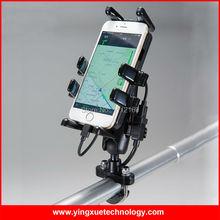 Universal de La Motocicleta Dedo Agarre Del Montaje Del Manillar Soporte para Teléfono Celular con Doble Cargador USB A Prueba de agua para 3.5-5.5 Pulgadas Inteligente teléfono