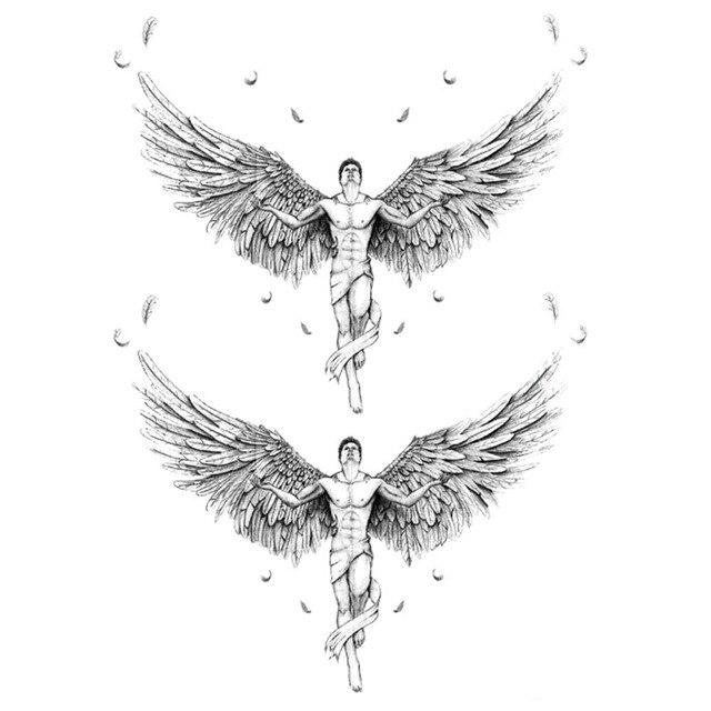 yeeech temporary tattoos sticker for men women couple fake angel