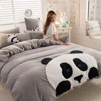 Зимний комплект постельного белья с рисунком панды, кошки, кролика, современной королевы