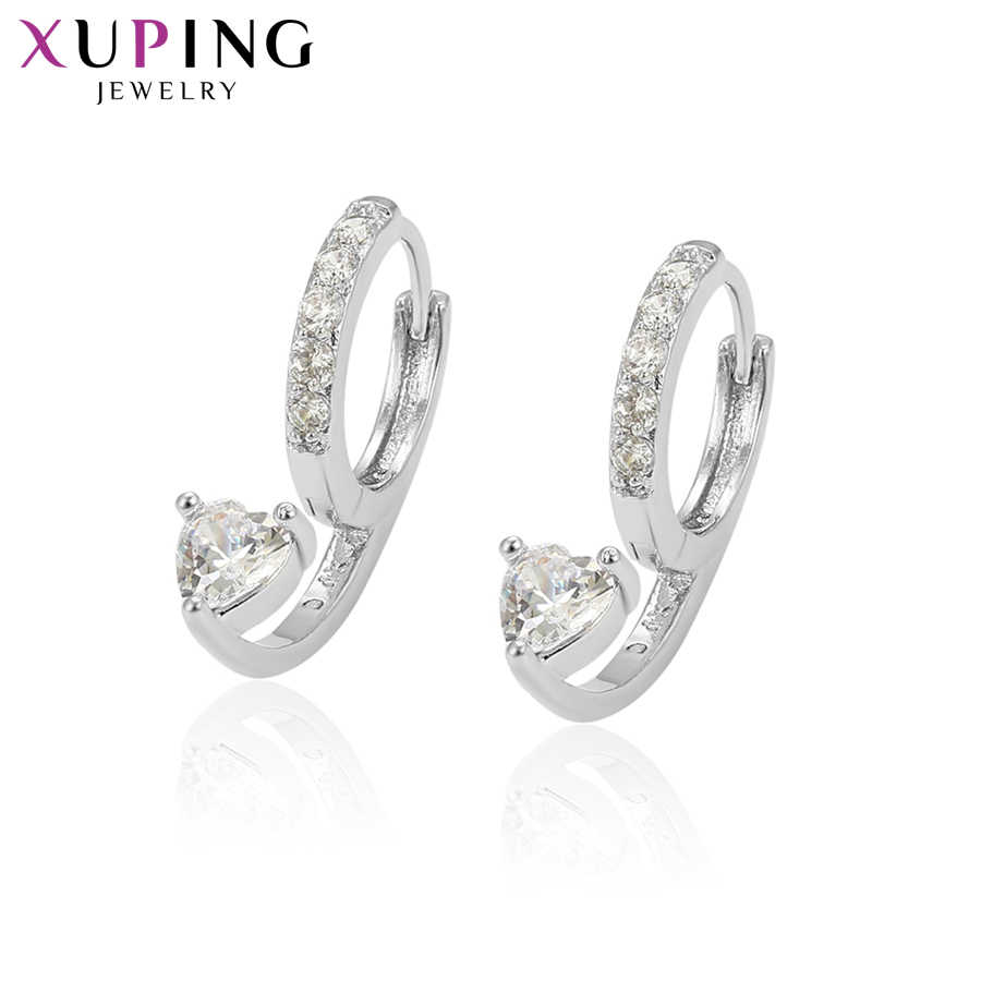 Xuping Jewelry Earrings Hoops Gold Color Plated Fashion Elegant Women Girls Thanksgiving Gifts Christmas S46,7-95605