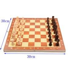 11.8 inch Chess Board Wooden Folding Chessboard Set Pieces 30cm*30cm Children Entertainment Gift School Tournament Checkers