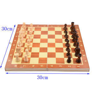 11.8 inch Chess Board Wooden Folding Chessboard Set Pieces 30cm*30cm Children Entertainment Gift School Tournament Checkers