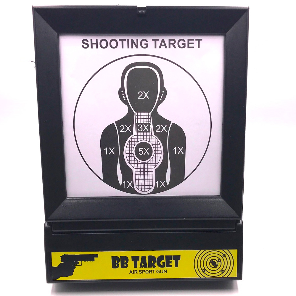Strong Plastic Foldable Design Target System Fits Airsoft, BB Guns, BBs, Plastic Bullet Shooting Practice Outdoors
