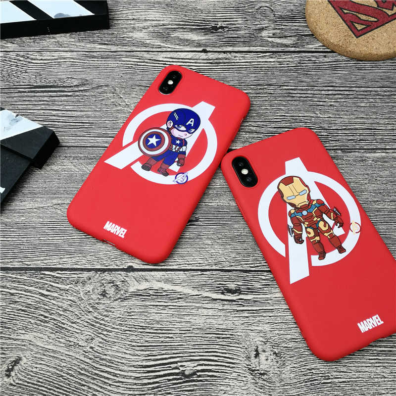 Iron Man Original Marvel Phone Cover Case For Iphone X Xs Max Xr 10 8 7 6 6s Plus 5 5s Se Matte Soft Silicone Coque Fundas Capa