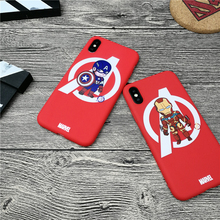 Iron Man Original Marvel Phone Cover Case For Iphone 11 PRO X Xs Max Xr 10 8 7 6 6s Plus Matte Soft Silicone Coque Fundas Capa