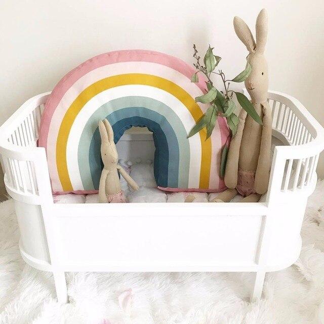 Nordic 25x35cm Rainbow Pillow Kids Toys Soft Decorative Stuffed Cushion Cartoon Baby Decorate Nursery