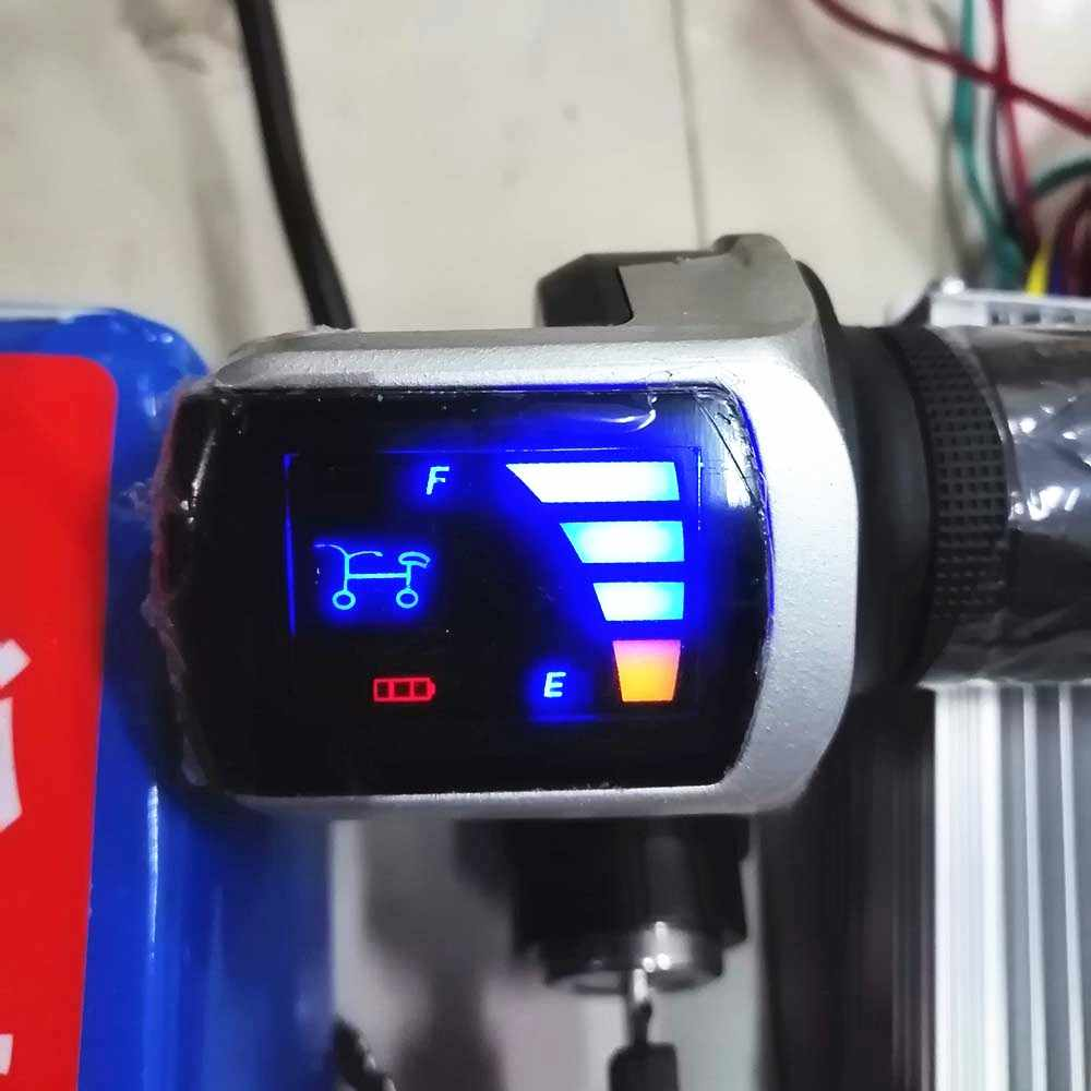 24V 36V 48V ebike throttle with LED display Indicator/ON-OFF Key Lock for electric bike/bicycle/scooter twist throttle