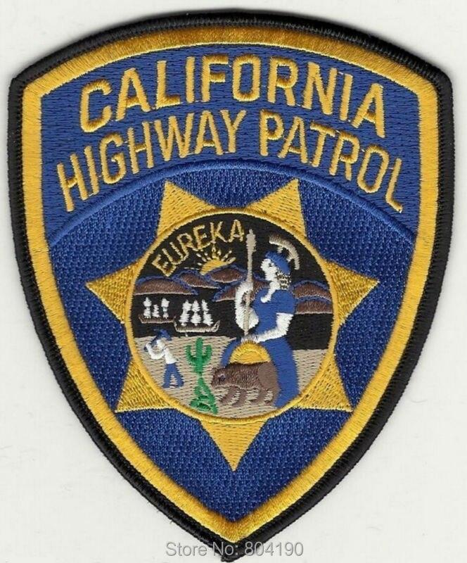 4 5 Large CALIFORNIA HIGHWAY PATROL U S CHiPs Crew Logo TV Series punk rockabilly applique
