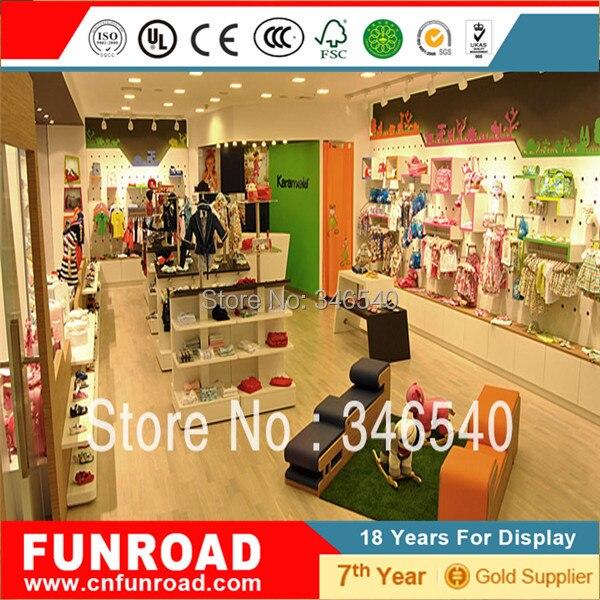 mdf muebles para tienda de ropa de ninos, mostrador alto para ropa ... - Tiendas De Muebles Para Ninos