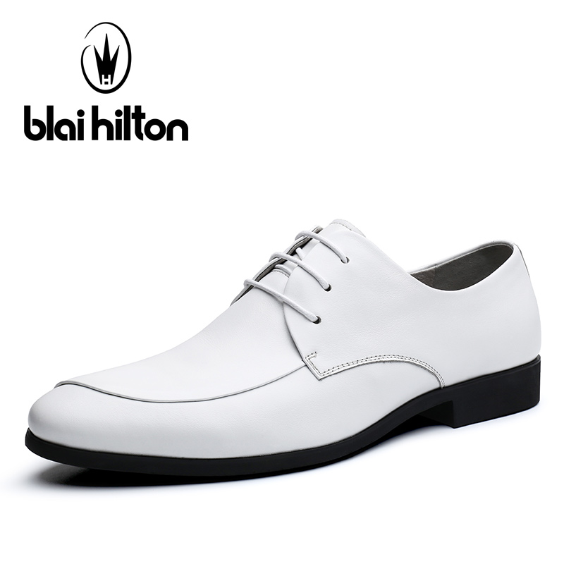 Blaibilton 100% NAPPA Genuine Leather Layered Luxury Oxfords Men Shoes Dress Fashion Business Mens Shoes Casual Designer SD7039 blaibilton formal dress men shoes oxford 100