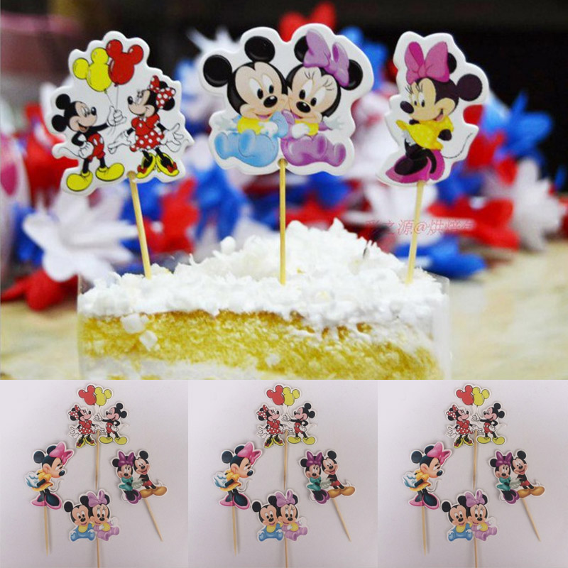 Fantastic 72Pcs Cute Mickey Minnie Mouse Princess Cowboy Candy Bar Cupcake Birthday Cards Printable Trancafe Filternl