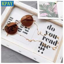 Fashion Chic Womens Gold Silver Eyewears Cord Holder neck strap Rope Eyeglass Chains Cat Sunglasses Reading Beaded Glasses Chain